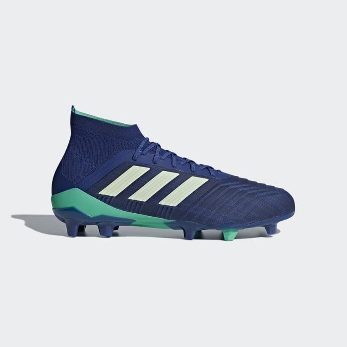 Adidas Predator 18.1, Sol ferme, Adultes, Mâle, Semelle à crampons moulés, Bleu, Vert, Motif