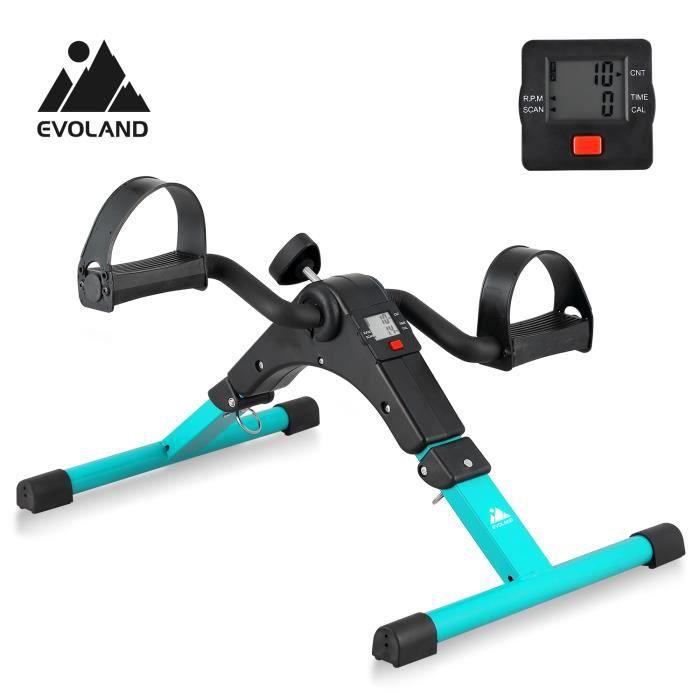 EVOLAND Mini écran LCD pour vélo d'exercice, pliable, peut entraîner les bras et les jambes, vert malachite