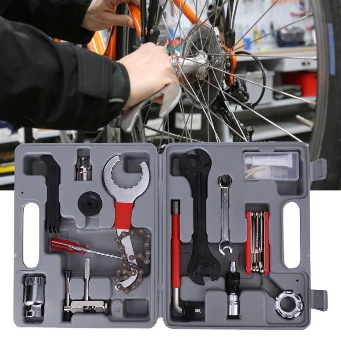 Kit de Réparation pour Vélo Boîte à Outils avec 26 Pièces, Coffret d'Outils pour vélos bicyclettes -YES