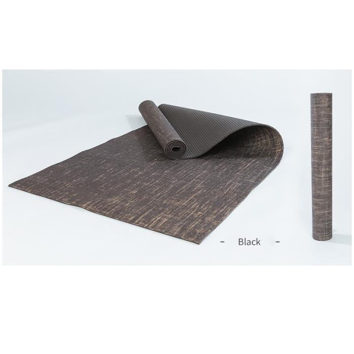 Tapis de sol,Tapis de Yoga antidérapants, sol de gymnastique écologique, exercice, Fitness, d'extérieur, - Type grey-183cmX61cmX5mm