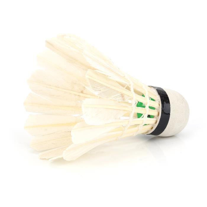 Balle de badminton, volant, tête de balle forte 12pcs / lot pour l'entraînement de badminton pour les sports de plein air
