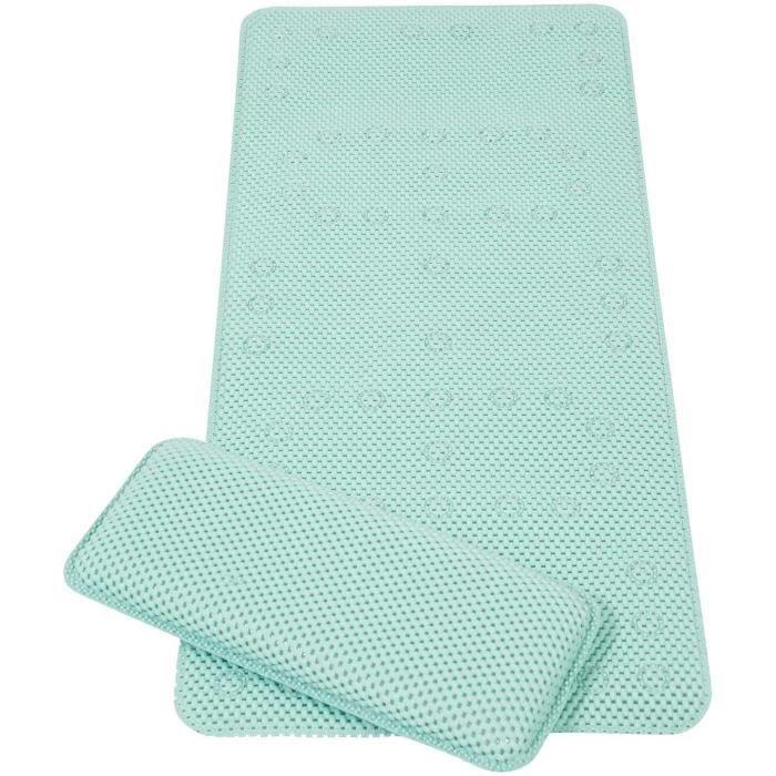 tapis de bain antidérapant bébé - tapis baignoire à ventouses anti-dérapante - aqua