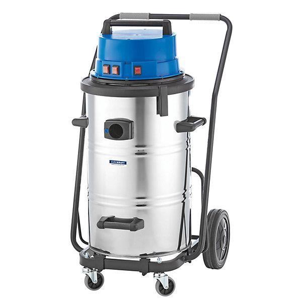 EUROKRAFT Aspirateur eau et poussières - aspirateur industriel, 3600 W cuve 95 l - appareil aspirateur appareils aspirateurs