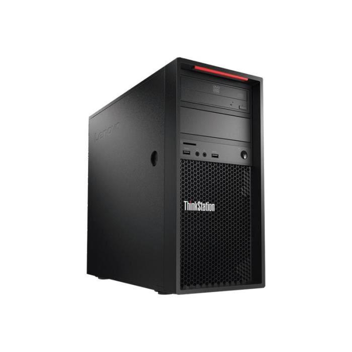 Lenovo Thinkstation P520c 30Bx Tour 1 x Xeon W 2123 / 3.6 Ghz Ram 16 Go Hdd 1 To Graveur de Dvd Aucun graphique Gige