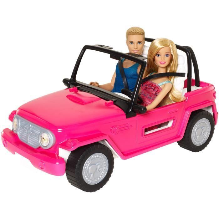 Poupée Barbie et Ken et Leur 4X4 Beach Cruiser CJD12