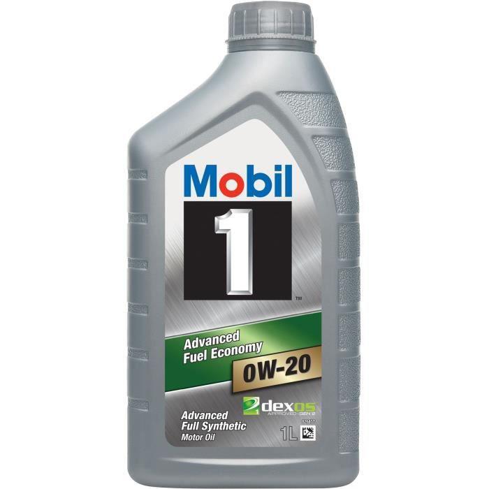 MOBIL 1 Huile moteur synthétique - 0W20 - 1 L