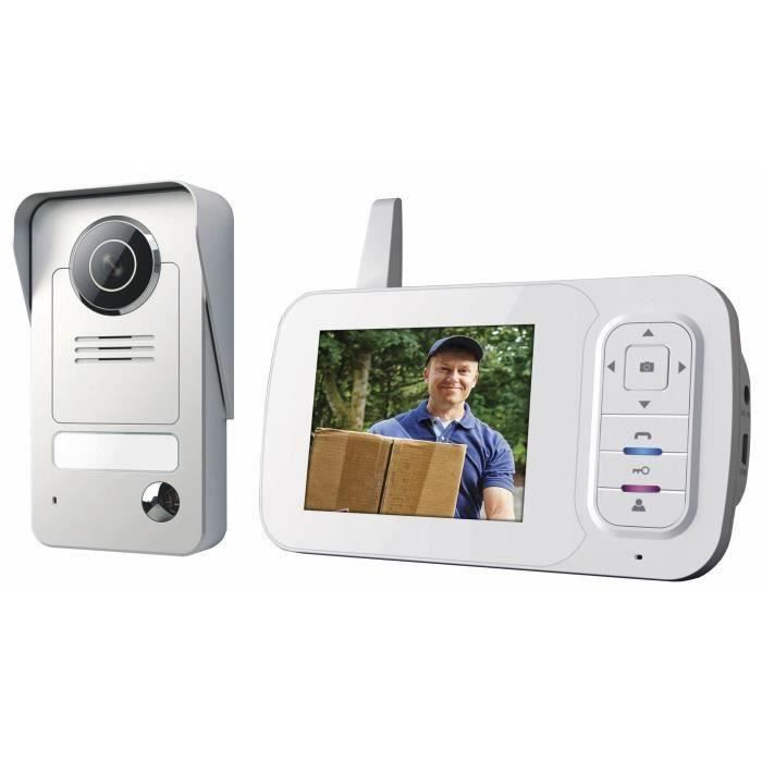VD38W Interphone visiophone sans fil avec écran portable et caméra à vision nocturne