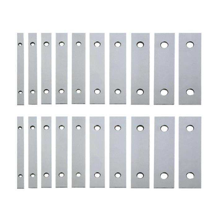 10 paires de barres parallèles 1 / 8inch X 6inch durable 0,0005 barre parallèle pour machiniste BARRE POUR TRACTION - DIP STATION