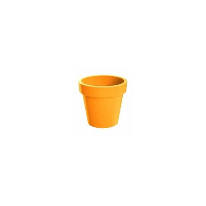 PROSPERPLAST Pot en résine plastique orange de 1 litre 13,5 x 12 cm