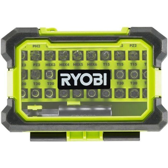 Coffret antichocs RYOBI 31 accessoires de vissage mixtes RAK31MSD