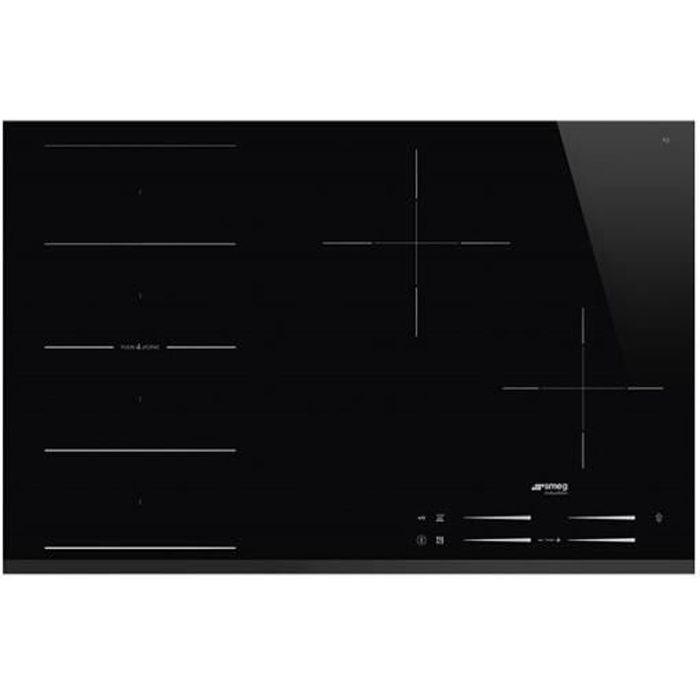 Plaque de cuisson induction Induction SMEG Encastrable 4 foyer(s)noir Produit neuf emballage abîménoir - Noir
