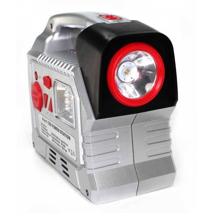 Booster de Batterie Voiture 7800 mAh 12V - Démarreur d'Urgence Portable - Compresseur 17 bars - Torche LED - Sortie USB