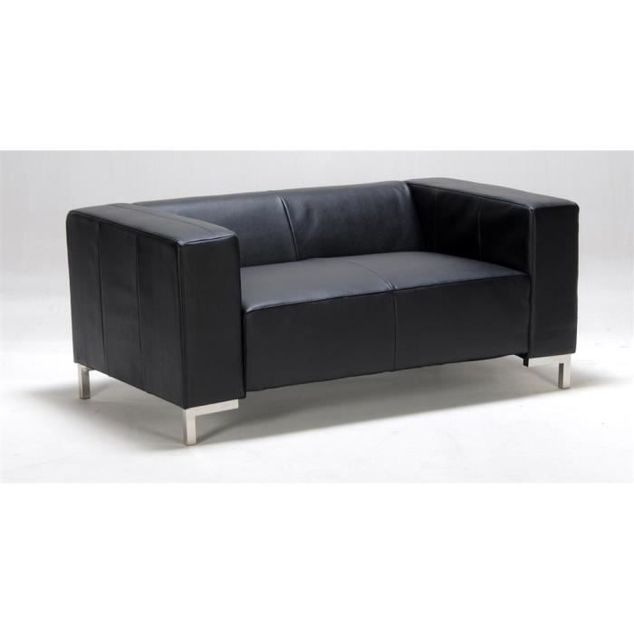 Canapé 2 Places Switsofa Diva Simili Cuir Noir