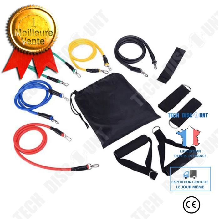 TD® Accessoires Fitness - Musculation,de bandes de résistance de Tube de Yoga ensemble extenseur Yoga - Type 11pcs