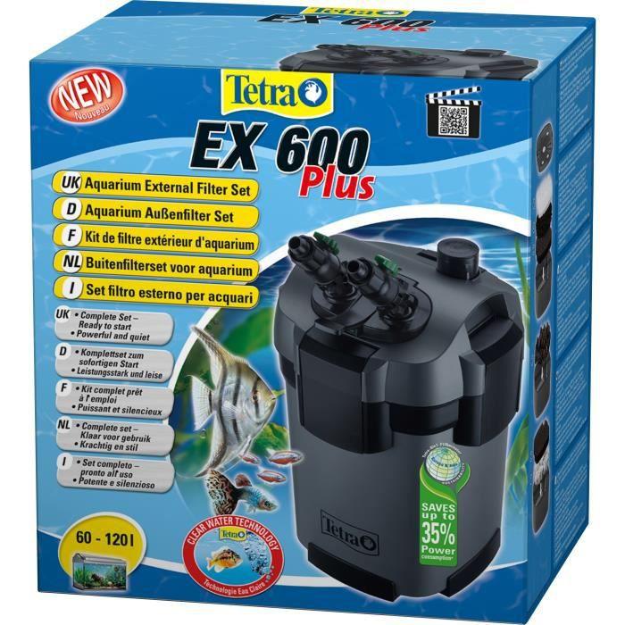 Tetra Filtre Extérieur Ex600 Plus 630 L/h