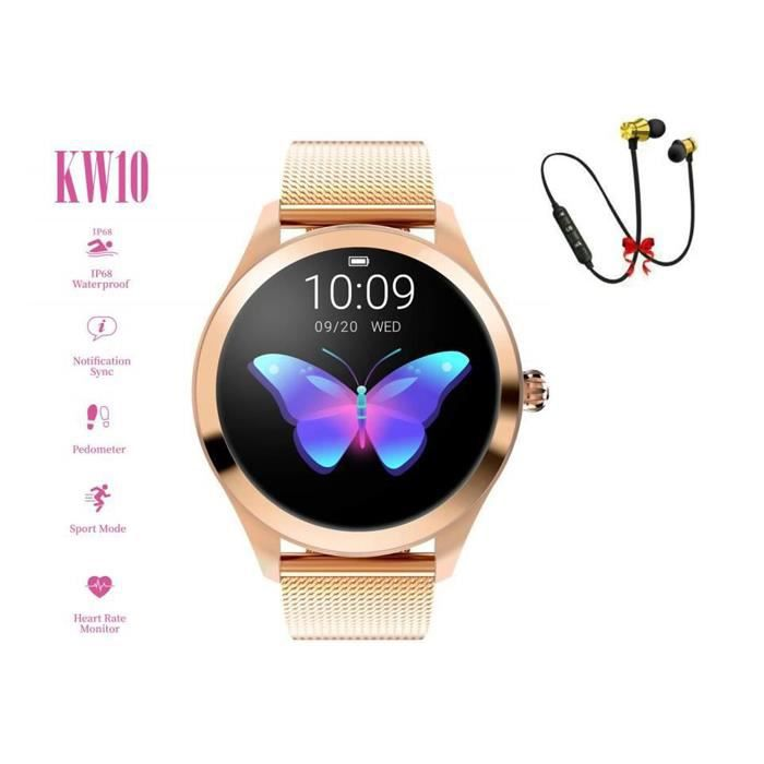 KW10 Montre Connectée ,Fitness / Heart Rate / Waterproof-T&T, Or Rose