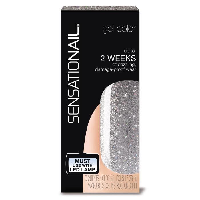 SENSATIONAIL Vernis gel semi-permanent Silver Glitter 72057 - Argent pailleté