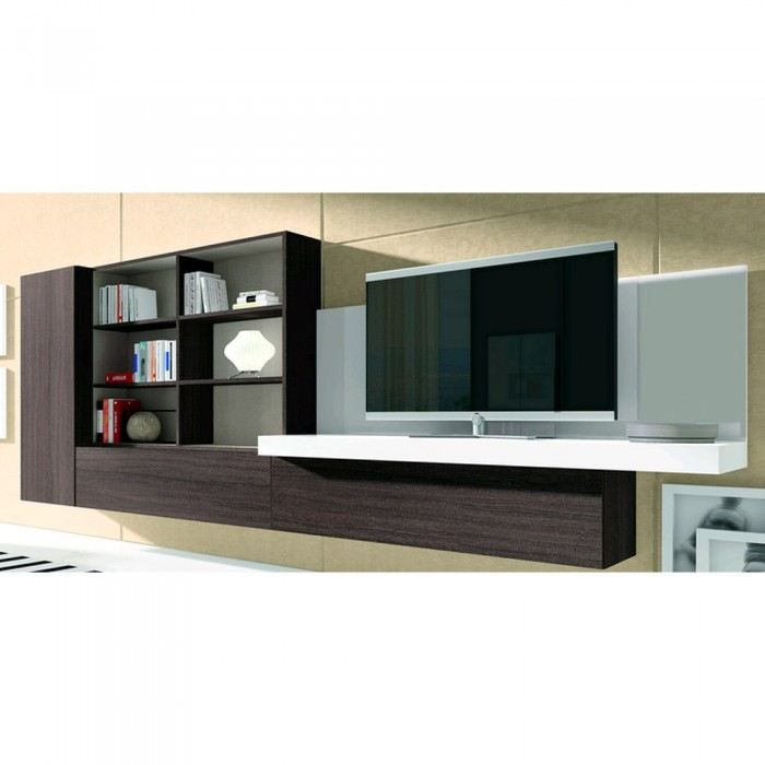 Meuble mural tv design meuble mural tv design wengac et for Atylia meuble tv