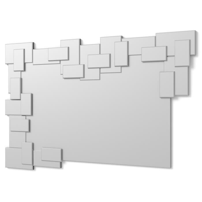 Miroir mur design moderne 120x80cm e019 achat vente for Decoration miroir mur