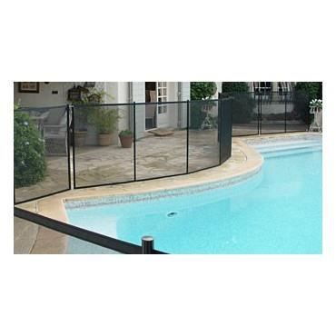 Barri re piscine beethoven noire piquets noirs 8 m tres for Barriere piscine beethoven