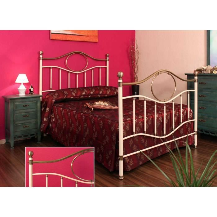 t tes de lit et lits en laiton et fer forg mod le nantes lit couleurs choisir pour. Black Bedroom Furniture Sets. Home Design Ideas