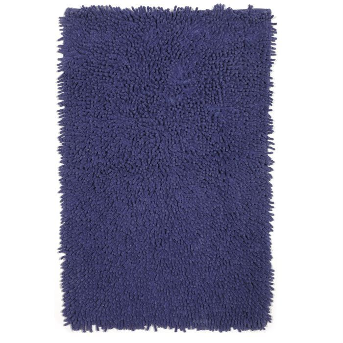 tapis de bain coton bleu 60x90cm achat vente tapis de bain cdiscount. Black Bedroom Furniture Sets. Home Design Ideas