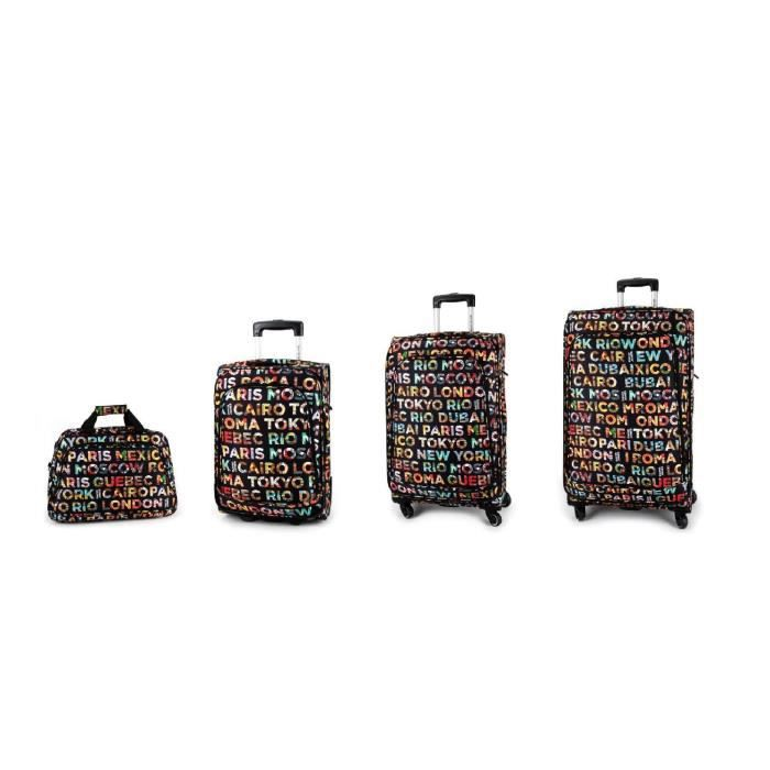 bagage david jones lot de 4 valise tissu ville achat vente set de valises bagage david. Black Bedroom Furniture Sets. Home Design Ideas
