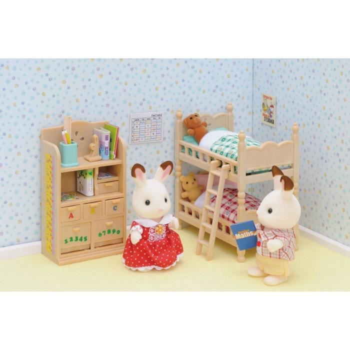 sylvanian families 2926 mobilier chambre enfants achat vente figurine personnage cdiscount. Black Bedroom Furniture Sets. Home Design Ideas