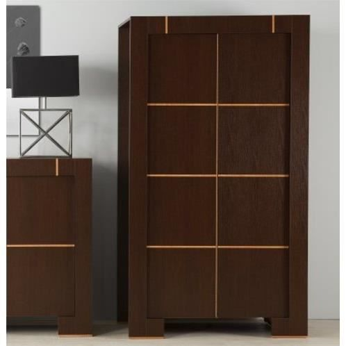 Armoire dressing 2 portes contemporaine moderne wenge sans for Chambre adulte sans armoire