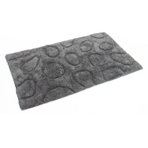tapis de salle de bain galets zen gris achat vente tapis de bain cdis. Black Bedroom Furniture Sets. Home Design Ideas