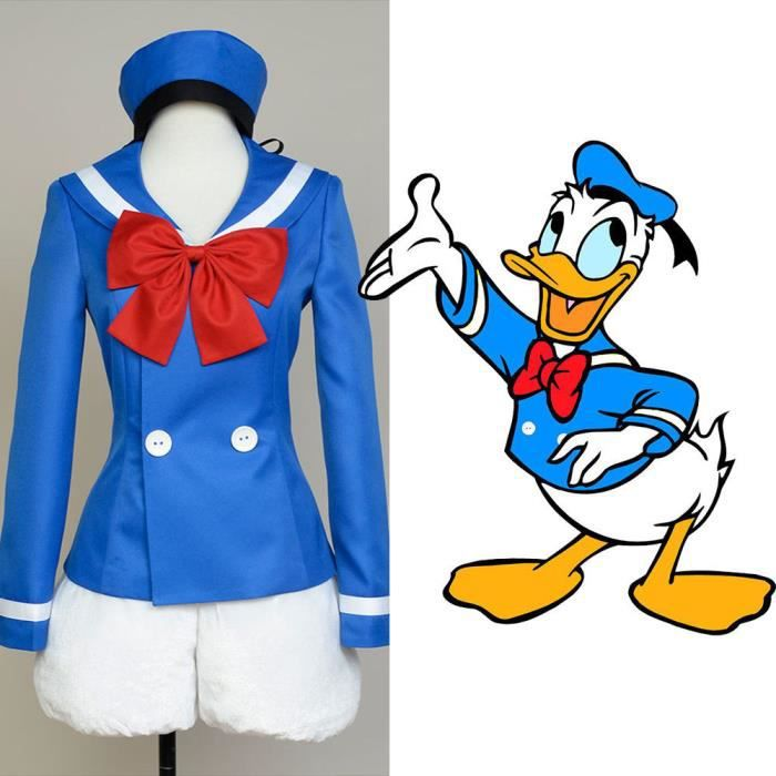 DÉGUISEMENT - PANOPLIE Disney Donald Duck Uniforme Marine Halloween Cospl