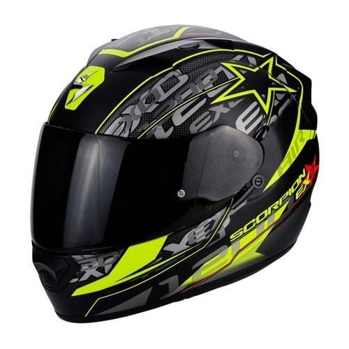 casque scorpion exo 1200 air solis noir mat jaune fluo achat vente casque moto scooter. Black Bedroom Furniture Sets. Home Design Ideas
