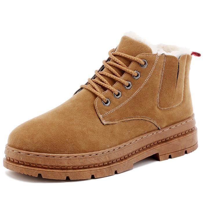 Courtes Avec Chaussures Mode Botte Bottes Étanches Bottes Coton Pour Homme L'hiver Chaussures tCsQrhdx