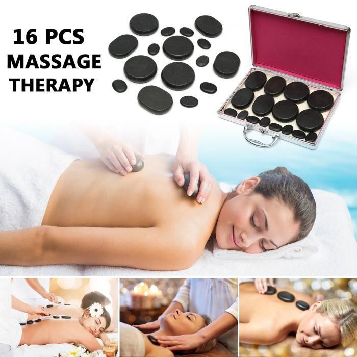 APPAREIL MASSAGE MANUEL NEUFU 16pcs Massage pierres chaudes basalte thérap