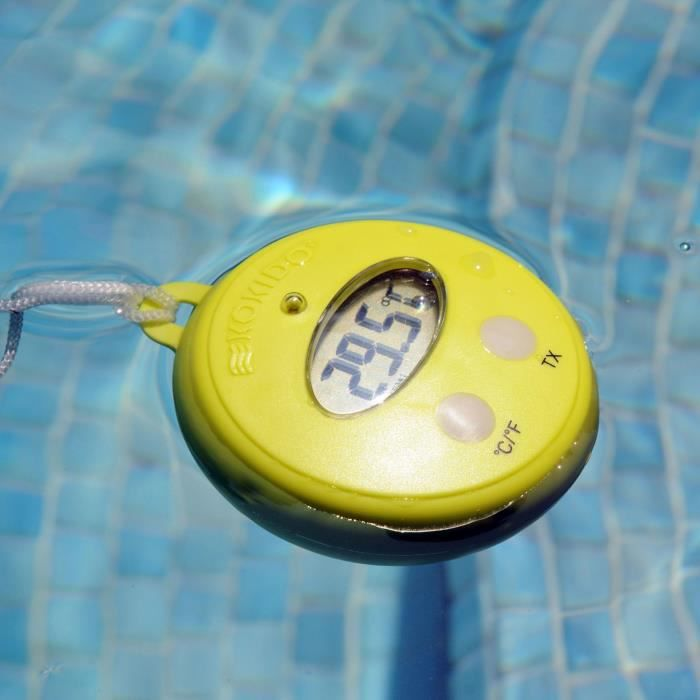 Thermom tre sans fil therm 39 o avec base achat vente for Thermometre piscine connecte