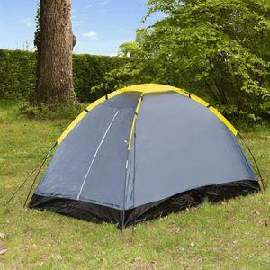 TENTE DE CAMPING Tente de camping Dôme - 2 places - Gris