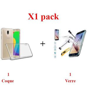 ACCESSOIRES SMARTPHONE X1 Pack, Verre+coque samsung j5 2017 Protection in