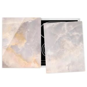 PLAQUE INDUCTION Couvre plaque de cuisson - Onyx Marble Gray - 52x8