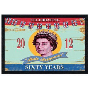 AFFICHE - POSTER Poster 61x91,5cm cadre en bois noir Rule Britannia