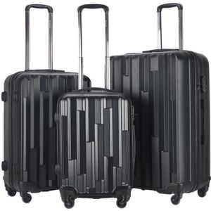 SET DE VALISES Set de 3 Valises lot de valises Mixte Trolley Rigi