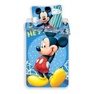 HOUSSE DE COUETTE ET TAIES Disney Mickey Parure de Lit - Housse de Couette Co
