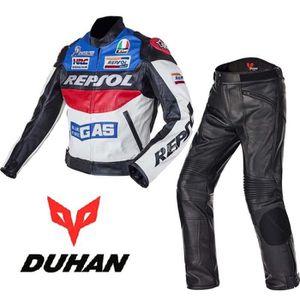 BLOUSON - VESTE Duhan MOTO veste en cuir imperméable Pantalons pro