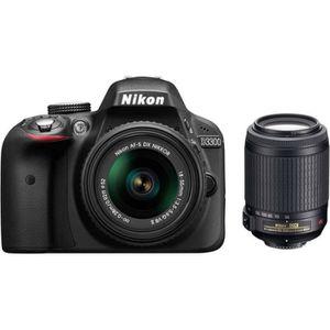 APPAREIL PHOTO RÉFLEX Reflex Nikon D3300 Kit Black + Objectif AF-S DX 18