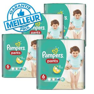 COUCHE 116 Couches Pampers Baby Dry Pants taille 6
