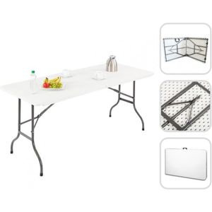 TABLE DE JARDIN  Table Pliante Transportable, Table en Plastique Ro