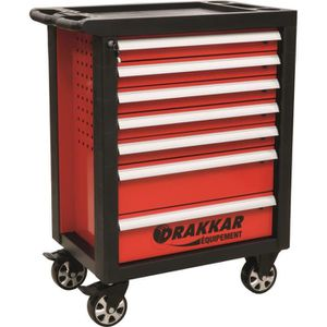 DESSERTE CHANTIER Servante 7 tiroirs - 205 outils TOPCAR 25092