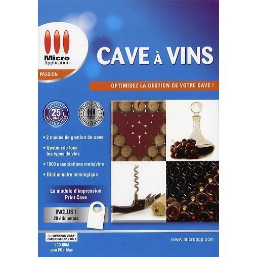 cave a vins logiciel pc cd rom achat vente jeux pc cave a vins pc cd ro. Black Bedroom Furniture Sets. Home Design Ideas