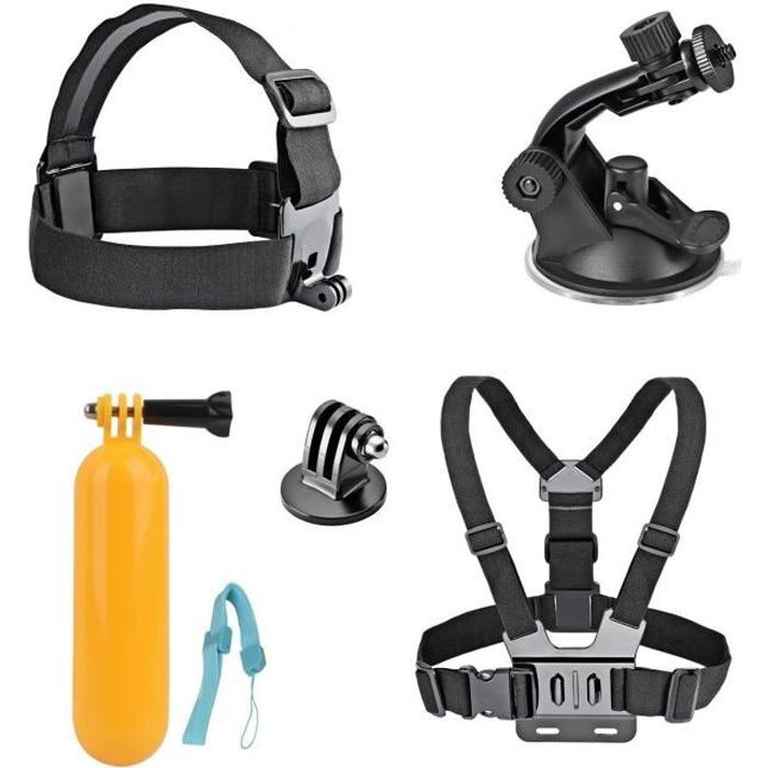 AKASO 7 in 1 caméra de sport Accessoires Bundle Kits pour AKASO EK7000/EK5000 GoPro héros Caméra de sport