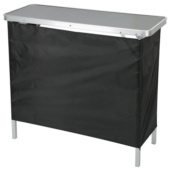 Alomejor Fournitures de fête Table de Bar Portable Table de Rangement Pliante Polyvalente Meubles pour Fête Salon Commercial