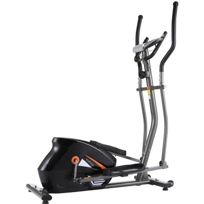Vélo Elliptique Fitness d'Appartement Cross Trainer avec 10 Niveaux de Résistance/APP/PorteTablette/Fréquence Cardiaque, Gris